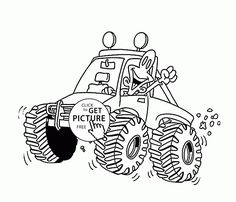 starla from blaze and the monster machines coloring page for kids ... - Monster Truck Coloring Pages Easy