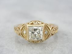 Large Very Fine Diamond in Ancient Style Filigree by MSJewelers, $7645.00