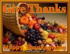 Give Thanks, Happy Thanksgiving