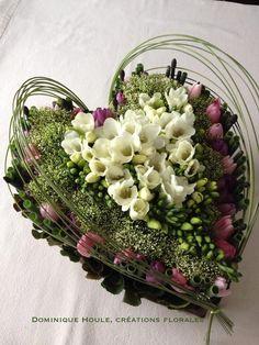 We created this floral for a customer. Valentine Flower Arrangements, Floral Arrangements, Deco Floral, Arte Floral, Funeral Flowers, Wedding Flowers, Sympathy Flowers, Ikebana, Flower Decorations