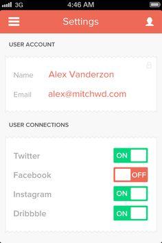 Ui Design Dribbble - Settingsscreen.png by Alex Vanderzon