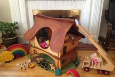 Large Custom Waldorf Dollhouse - only $100!! What a deal!!! Handmade, all natural, heirloom quality, hand-made-in Canada, Waldorf-inspired  wooden toys and furniture! I love their Etsy shop, so now I am funding their campaign :)