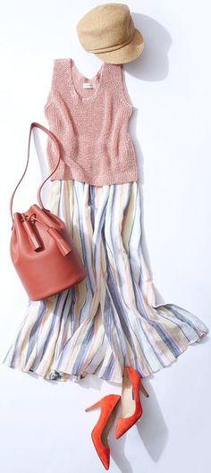 This week's lesson: Challenge colorful marine (Lumine Yurakucho) Fashion Mode, Japan Fashion, Work Fashion, Fashion Outfits, Womens Fashion, Fashion Trends, Spring Summer Fashion, Autumn Fashion, Moda Casual