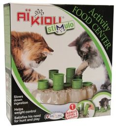 Stimulo Cat Feeding Station. Seems like this might be easy to replicate.