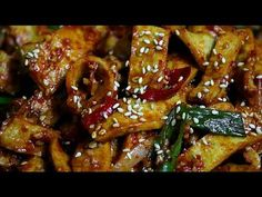Cucumber Salad, Korean Food, Food Plating, Chicken Wings, Love Food, Side Dishes, Bacon, Asian, Meat