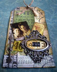 Our Creative Corner: The Funkie Junkie Boutique Sponsor Spotlight Tags Ideas, Handmade Scrapbook, Mini Albums Scrap, Spotlights, Tim Holtz, Sorting, Stationary, Corner, Bullet Journal