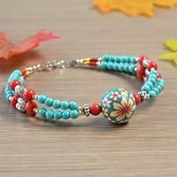 Pandahall Free Tutorial - How to Make a Charming Multi-strand Beaded Ethnic Bracelet