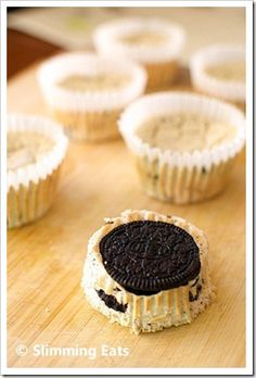 Mini Oreo Baked Cheesecakes | Slimming Eats - Slimming World Recipes 3.5 syns each