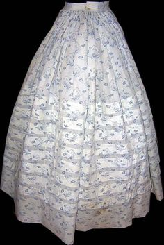 Skirt portion, likely missing bodice