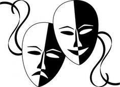 Wasat Theatre Masks clip art
