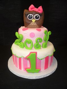 owl cake by Royalty_Cakes, via Flickr