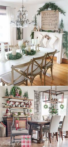 100 Favorite Christmas Decorating Ideas For Every Room In Your Home Part 2 100 Best Christmas Decorating Ideas Organized By Rooms How To Create Beautiful Christmas Entryway Living Room Kitchen Bedroom Staircase Amp Amp More A Piece Of Rainbow Christmas Entryway, Diy Christmas Decorations For Home, Tabletop Christmas Tree, Christmas Kitchen, Rustic Christmas, Christmas Home, Diy Home Decor, Christmas Wreaths, Holiday Decor