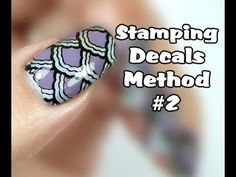 Easy Stamping Decals/Stickers Nail Art Tutorial - Method #2