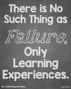 Tuesday Teacher Tips: Failure Is Just a Learning Experience - FREE printable plus great teaching tip.