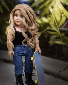 A Caity photo because the real Caity was wonderful in the latest crossovers 💛 American Girl Doll Room, Custom American Girl Dolls, American Girl Doll Pictures, My American Girl Doll, American Girl Crafts, American Doll Clothes, Girl Doll Clothes, Barbie Clothes, American Girl Hairstyles