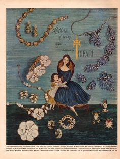 1952 Trifari Jewelry print ad Mother's Day by catchingcanaries, $9.00