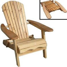 Sit back, relax and enjoy the outdoors in this easy to fold, lightweight Adirondack chair. Not only is it comfortable and a great replacement for those plastic lawn chairs, it's perfect for a day at the beach and features large arm rests for drinks.