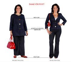 Jaqueta decotada e acinturada + calça flare = look jovial e que valoriza a silhueta