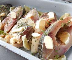 Pečený kapr na citronu a bylinkách Potato Salad, Food And Drink, Pizza, Potatoes, Ethnic Recipes, Lemon, Potato