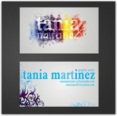 Artist business card graphic available in eps vector format creative graphic artist business cards templates for inspiration designed for tania martinez colourmoves