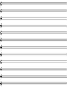 blank+sheet+music | Blank Piano Sheet Music Template More