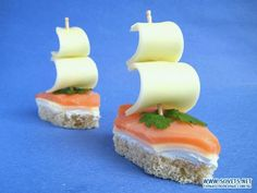2 good ideas for an aperitif - - Small Atelier Cuisine für Prepare the aperitif . - 2 good ideas for the aperitif – – Small Atelier Cuisine für Prepare the aperitif. Cute Food, Good Food, Yummy Food, Tapas, Baby Food Recipes, Cooking Recipes, Fish Recipes, Cooking Kids, Food Carving