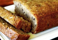 """This is my """"go to"""" banana bread recipe. My family and I just can't get enough of it. We are crazy in LOVE with this banana bread. It's moist, very banana-y, and it has coconut in it. Oh, and even more great news, this recipe makes two yummy loaves. I bet you will be hooked …"""