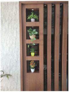 Wooden Partition Design, Wood Partition, Living Room Partition Design, Pooja Room Door Design, Living Room Tv Unit Designs, Room Partition Designs, Bedroom Furniture Design, Cuisines Design, Modern Interiors