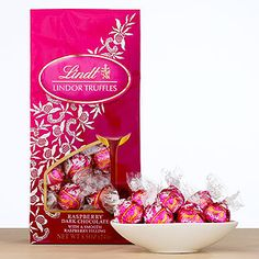 Lindt Raspberry Dark Chocolate Lindor Truffles @ World Market - hoping to get some of these on V-Day - yum