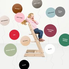 The Stokke Tripp Trapp, the classic wooden high chair for baby and child, now comes in more colors than ever! Shop it now