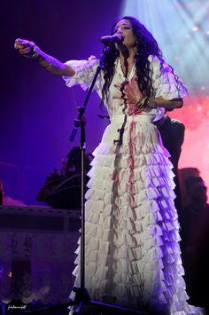 Justyna Steczkowska and Orkiestra Cygańska / costumes Lilit Victorian, Costumes, Dresses, Fashion, Vestidos, Moda, Dress Up Clothes, Fashion Styles, Fancy Dress
