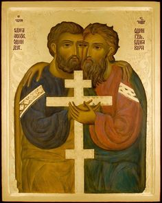 Whispers of an Immortalist: Icons of Apostles and Evangelists 1 Religious Pictures, Religious Icons, Religious Art, Andrew The Apostle, St Peter And Paul, The Monks, Art Icon, Orthodox Icons, Christianity