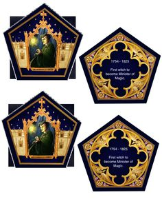 Here are the Chocolate Frog Cards! They took a long time to make, but they were worth it. I took the images from the Chocolate Frog Cards yo...