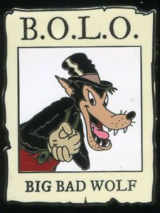 B.O.L.O. Be On the Look Out Cast Mystery Set 2 - Big Bad Wolf Disney Pin 103868