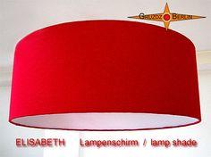 Lampenschirm ELISABETH Ø 45 cm Seide Bourette rot. Eleganz in royalem Rot: Der Lampenschirm ELISABETH besticht durch seine Farbe und sanften Schimmer der Bouretteseide.