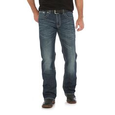 Wrangler Men's Rock 47 by Relaxed Fit Bootcut Jeans (Size: 40 x 34) Dark Blue