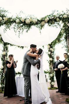 botanical chuppah // photo by Brookelyn Photography // http://ruffledblog.com/liberty-warehouse-wedding