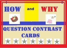 Task Cards to practice answering how and why questions from a short paragraph. Speech Language Pathology, Speech And Language, What If Questions, This Or That Questions, Expressive Language Disorder, Autism Parenting, Common Core Standards, Speech Therapy, Comprehension