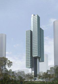 Scotts Towers (FloatingTower) - Ole Scheeren and OMA