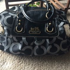 Coach Handbag Used. No stains or discoloration! Wear on handles (shown). Clean lining! Coach Bags Shoulder Bags