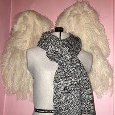 Victoria's Secret Knit Scarf NWT This Victoria's Secret Knit Scarf is New in original bag  it is black and white super stylish and warm Victoria's Secret Accessories Scarves & Wraps