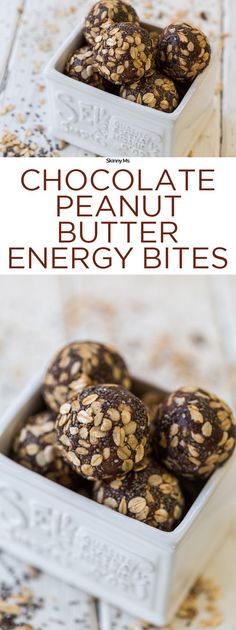 Chocolate Peanut Butter Energy Bites are all the boost you need in a perfect…
