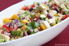 Lentil and feta salad recipe - A scrumptious salad that will have your guests begging for the recipe. I would serve it at a braai or cold lunch but not as a starter unless it had shredded lettuce added to it. South African Salad Recipes, South African Dishes, Ethnic Recipes, Salad Recipes Healthy Lunch, Lunch Recipes, Healthy Eats, Easy Recipes, Koeksisters Recipe, Cold Lunches