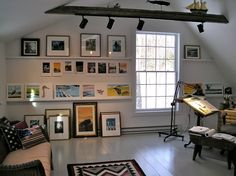 Have you ever wondered what a children's book illustrator's studio looks like? Here's what Wendell Minor's looks like...