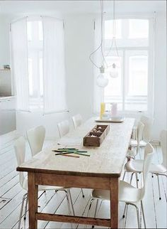 wood table + wood flooring
