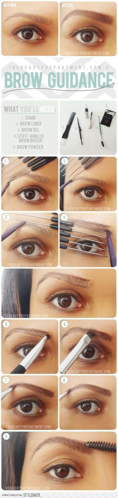 http://thebeautydepartment.com/2012/11/try-a-little-help-from-a-friend/ eyebrow  brow guidance - fill and shape - makeup
