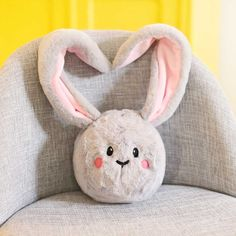 "Nähen Ostern: Schnittmuster Hase Kuschelkopf FIBI Plush bunny ""FIBI"" is cuddly toy, ball, Easter decoration and even doorstop in one. A real allround bunny to sew yourself! Get the free sewing pattern Bunny ""FIBI"". Sewing Patterns Free, Free Sewing, Knitting Patterns, Baby Knitting, Crochet Baby, Bunny Plush, Baby Pillows, Sewing Dolls, Lol Dolls"