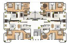 plantas de apartamentos grandes 2