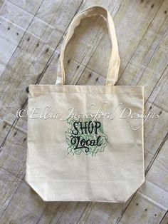 A personal favorite from my Etsy shop https://www.etsy.com/listing/277487066/shop-local-tote-bag