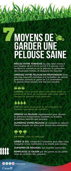 Obtenez plus d'information sur les moyens de garder une pelouse saine :  http://www.canadiensensante.gc.ca/health-sante/environment-environnement/home-maison/lawn_healthy-saine_pelouse-fra.php?utm_source=pinterest_hcdnsutm_medium=socialutm_content=July8_lawn_FRutm_campaign=social_media_14